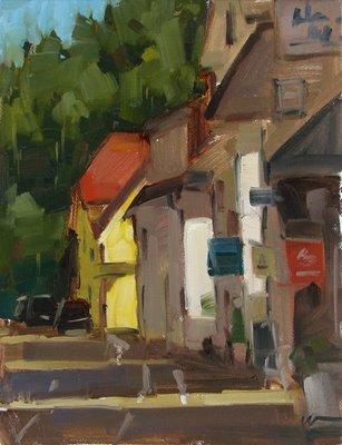 """""""St. Blasien"""" original fine art by Carol Marine"""