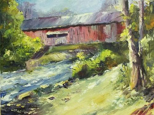 """Indiana Landscape Memory"" original fine art by Alice Harpel"