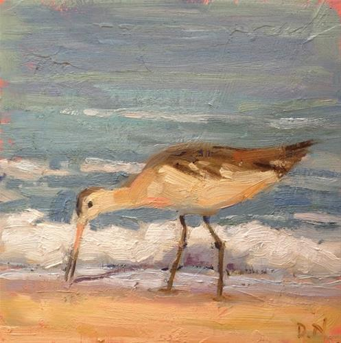 """Shorebird"" original fine art by Deborah Newman"