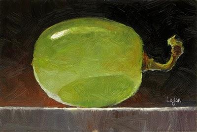 """Grape"" original fine art by Raymond Logan"