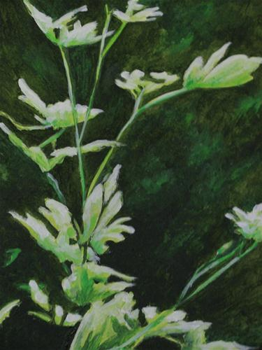"""Leaves in Green"" original fine art by Nan Johnson"