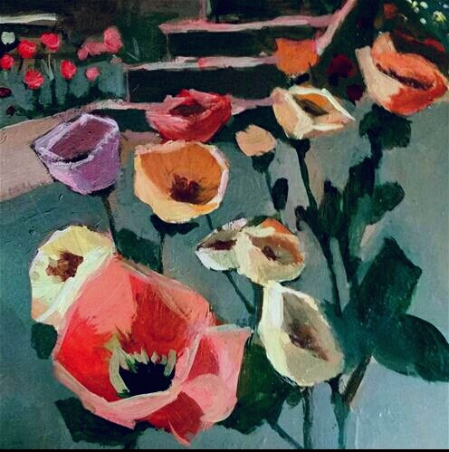 """A Poppy Expression "" original fine art by Liz Maynes"