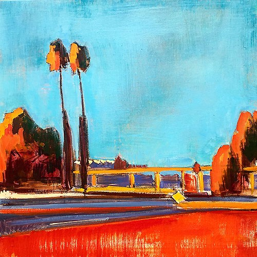 """19th and 94 Freeway"" original fine art by Kevin Inman"