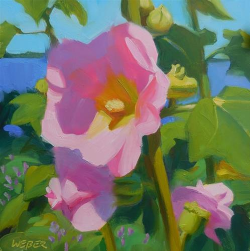 """Seaside garden"" original fine art by Kathy Weber"
