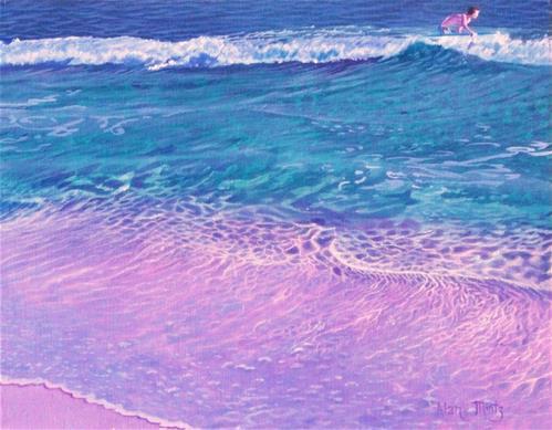 """Catching A Wave"" original fine art by Alan Mintz"