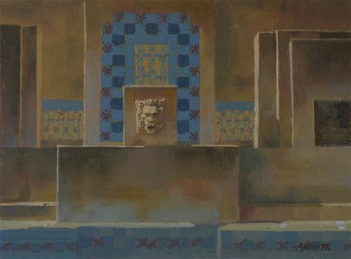 """Catalina Monument"" original fine art by John White"