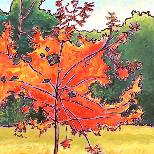"""120 Love Those Trees"" original fine art by Nadi Spencer"