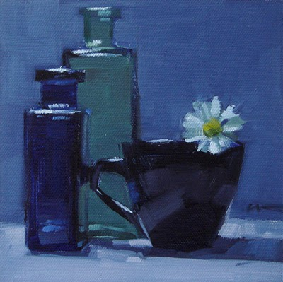 """Blue Daisy --- n/a"" original fine art by Carol Marine"