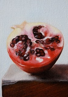"""Pomegranate"" original fine art by Jonathan Aller"