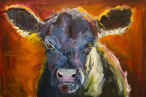 """ANOTHER DAY IN COW PARADISE Cattle art by Diane Whitehead"" original fine art by Diane Whitehead"