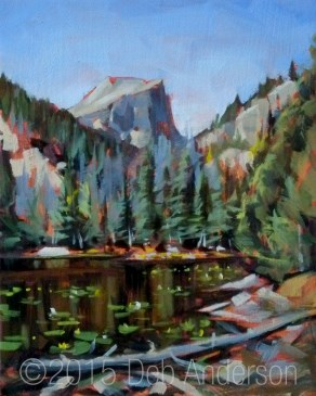"""Oil Painting: Lily Lake"" original fine art by Deb Anderson"