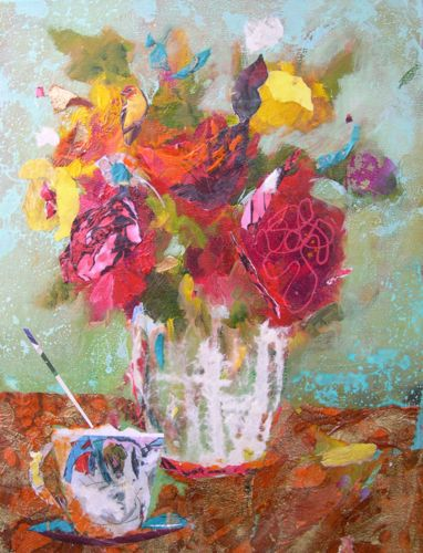 """AFTERNOON TREAT, 12x16, Mixed Media"" original fine art by Amy Whitehouse"
