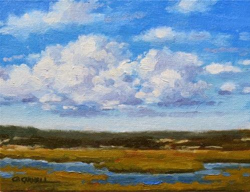 """'Cloud Bank' An Original Oil Painting by Claire Beadon Carnell 30 Paintings in 30 Days Challenge Day"" original fine art by Claire Beadon Carnell"