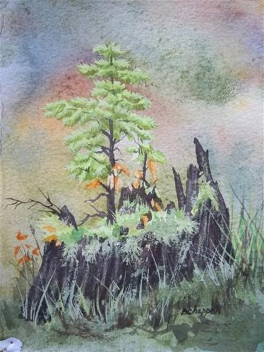 """Seedling 2"" original fine art by Becky Chappell"