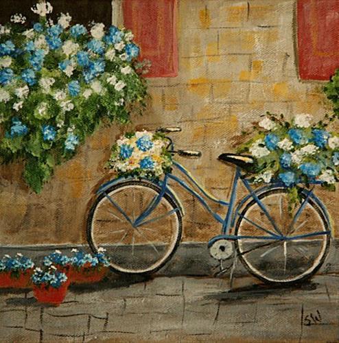 """Blue on Blue"" original fine art by Sunny Williams"
