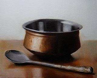 """Serving Bowl"" original fine art by Jonathan Aller"