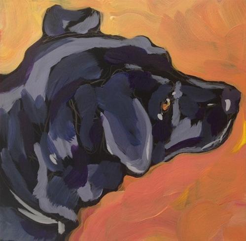 """Curious Ears"" original fine art by Kat Corrigan"