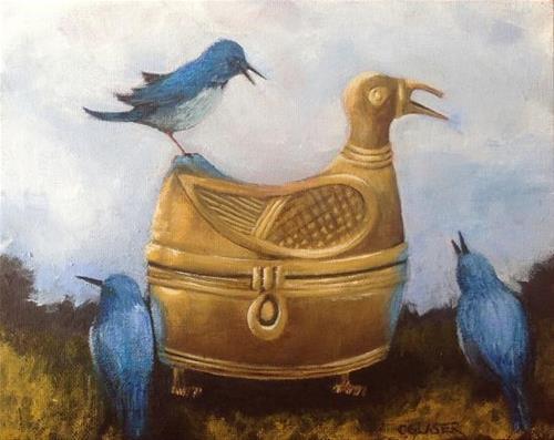 """A Stranger in the Garden"" original fine art by christina glaser"
