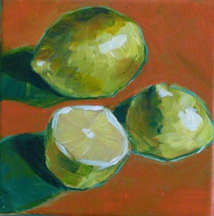 """lemon,s"" original fine art by Sabine Hüning"