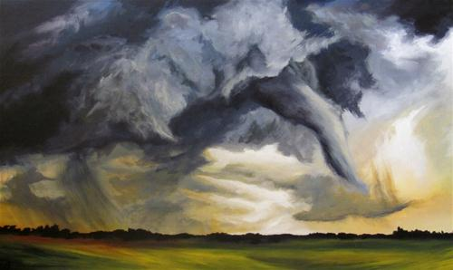 """Tornado Alley"" original fine art by ~ces~ Christine E. S. Code"