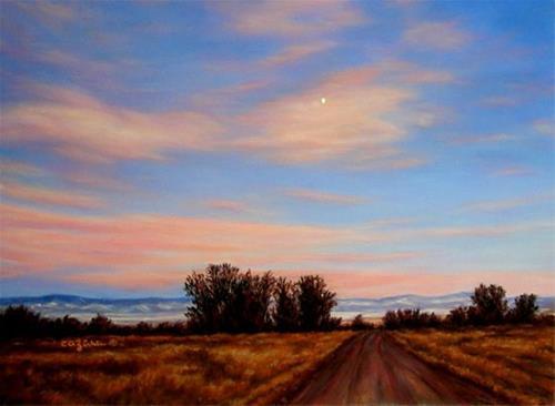 """Half Moon Over The Lane"" original fine art by Carol Zirkle"