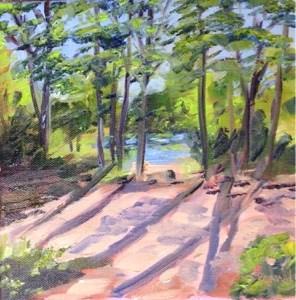 """View from the porch"" original fine art by Debra Kennedy"