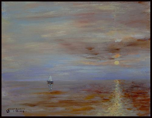 """Calm Seas"" original fine art by Captain B Smith"