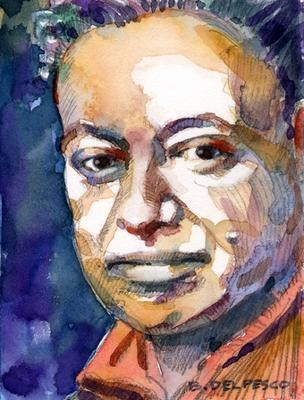 """Mini Portrait: Diego Rivera"" original fine art by Belinda Del Pesco"