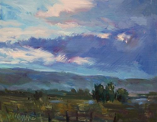 """Blue Evening"" original fine art by Mary Maxam"