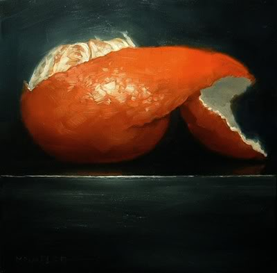 """Peeled Orange No.3"" original fine art by Michael Naples"