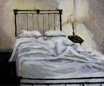 """Paint Your Bed"" original fine art by Maggie Flatley"