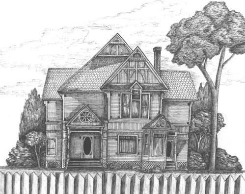 """""""Bowen Home of Baker City"""" original fine art by Amy VanGaasbeck"""