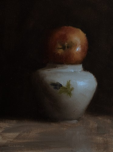 """Apple on Top"" original fine art by Neil Carroll"