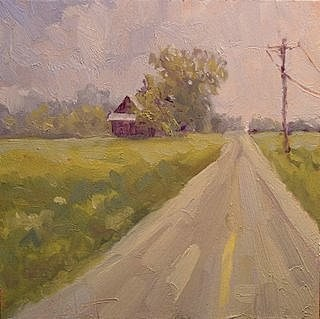 """Barn - Summer Rural Landscape"" original fine art by Heidi Malott"