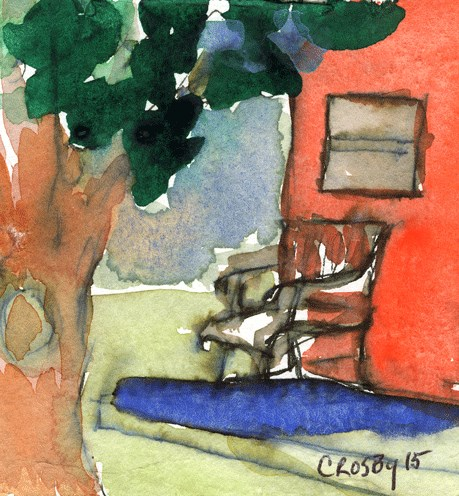 """Creature Comforts"" original fine art by Donna Crosby"