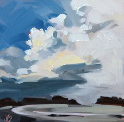 """Storm Sky"" original fine art by Jessica Green"