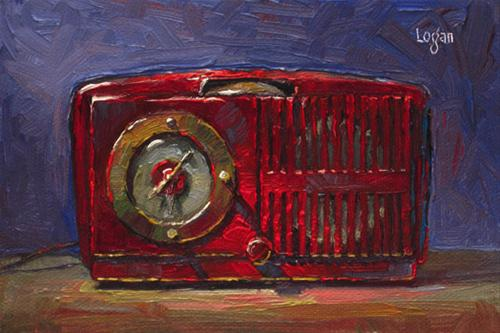 """Jeff's Clock Radio (GE) small"" original fine art by Raymond Logan"