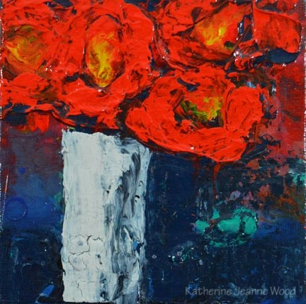 """Flower Series No 76"" original fine art by Katie Jeanne Wood"