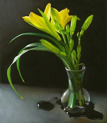 """Daylilies 7x8"" original fine art by M Collier"