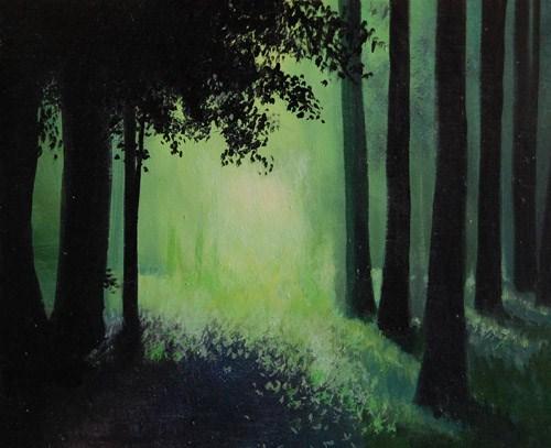 """""""DAPPLED LIGHT"""" original fine art by Gerald Schwartz"""
