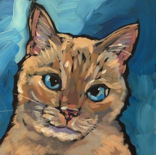 """""""March 8, Simon"""" original fine art by Kat Corrigan"""