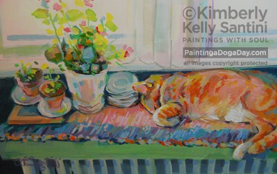 """Begonia, Finished"" original fine art by Kimberly Santini"