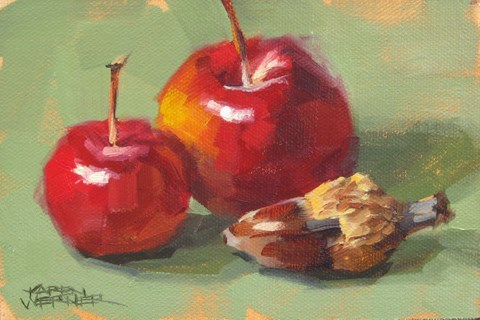 """Acorn & Crab Apples"" original fine art by Karen Werner"