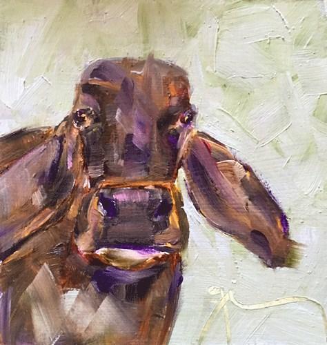 """Brown Cow"" original fine art by Gigi ."