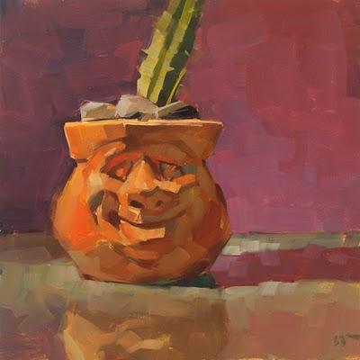 """Happy Planter"" original fine art by Carol Marine"