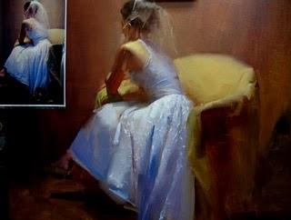 """A halfway painting"" original fine art by Fongwei Liu"