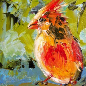 """tiny bird"" original fine art by Kim Smith"