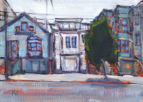 """The Mission, San Francisco"" original fine art by Kevin Inman"