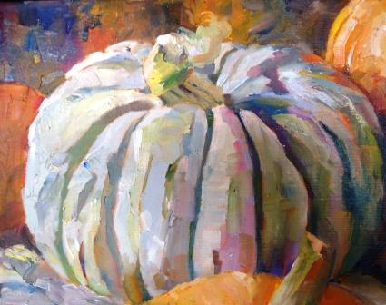 """Ghostly Pumpkin"" original fine art by Scarlet Owl Studio"