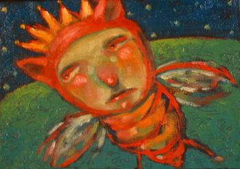 """Queen B Takes A Wrong Turn"" original fine art by Brenda York"